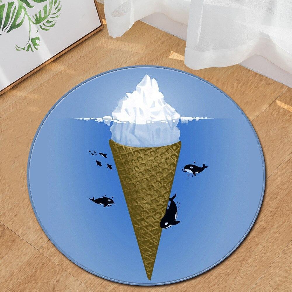 Runder Teppich <br> Eis