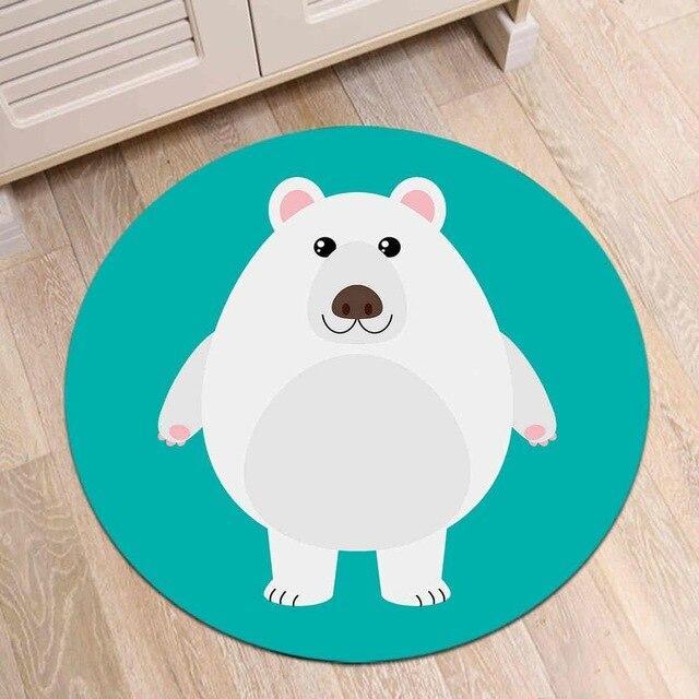 Runder Teppich <br> Eisbär