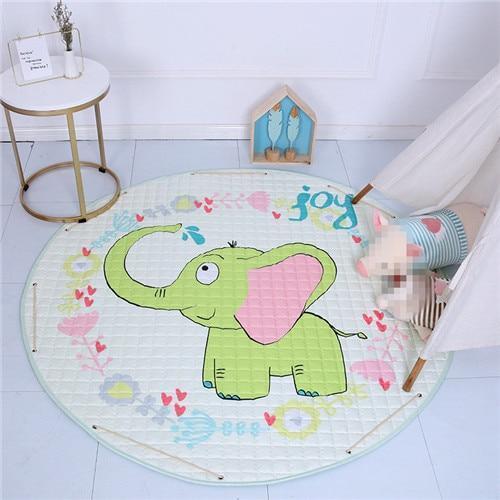 Runder Teppich <br> Elefant