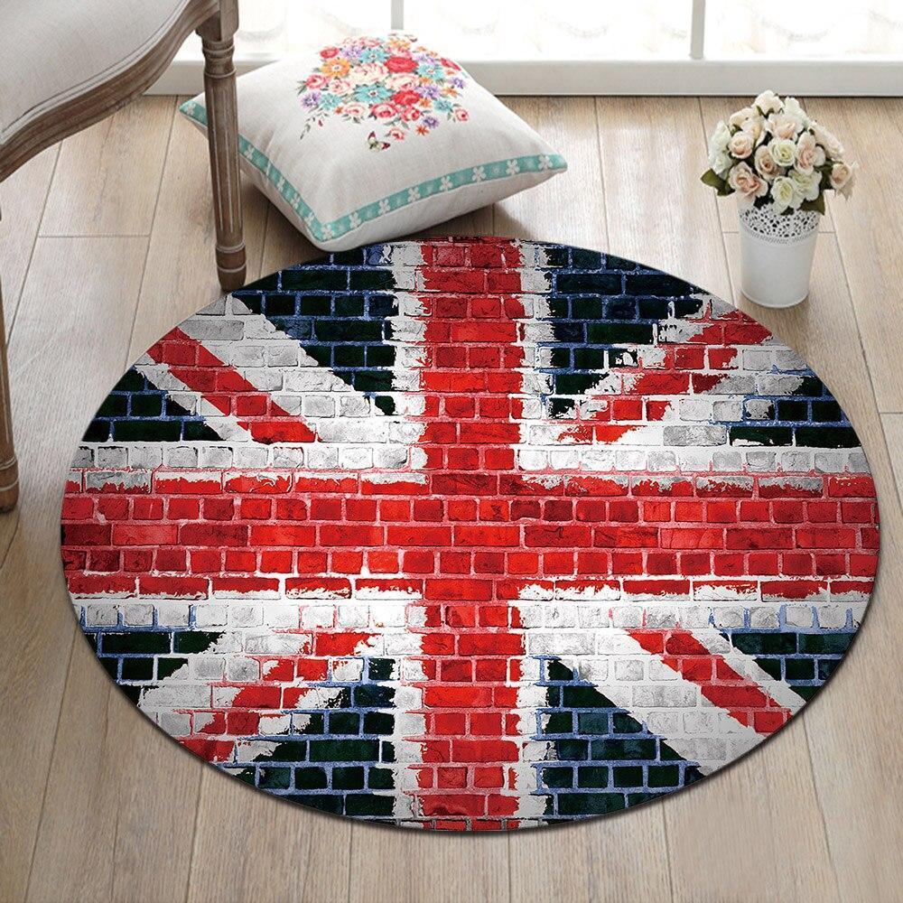 Runder Teppich <br> England