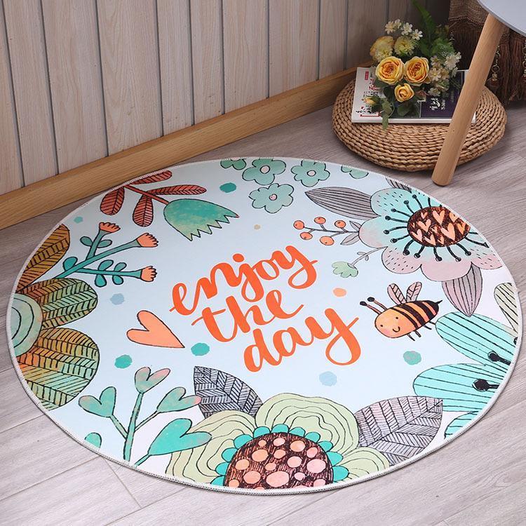 Runder Teppich <br> Enjoy the day