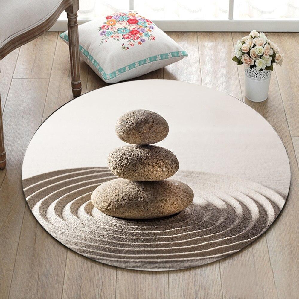 Runder Teppich <br> Entspannung