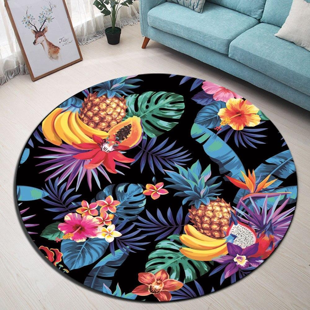 Runder Teppich <br> Exotische Frucht