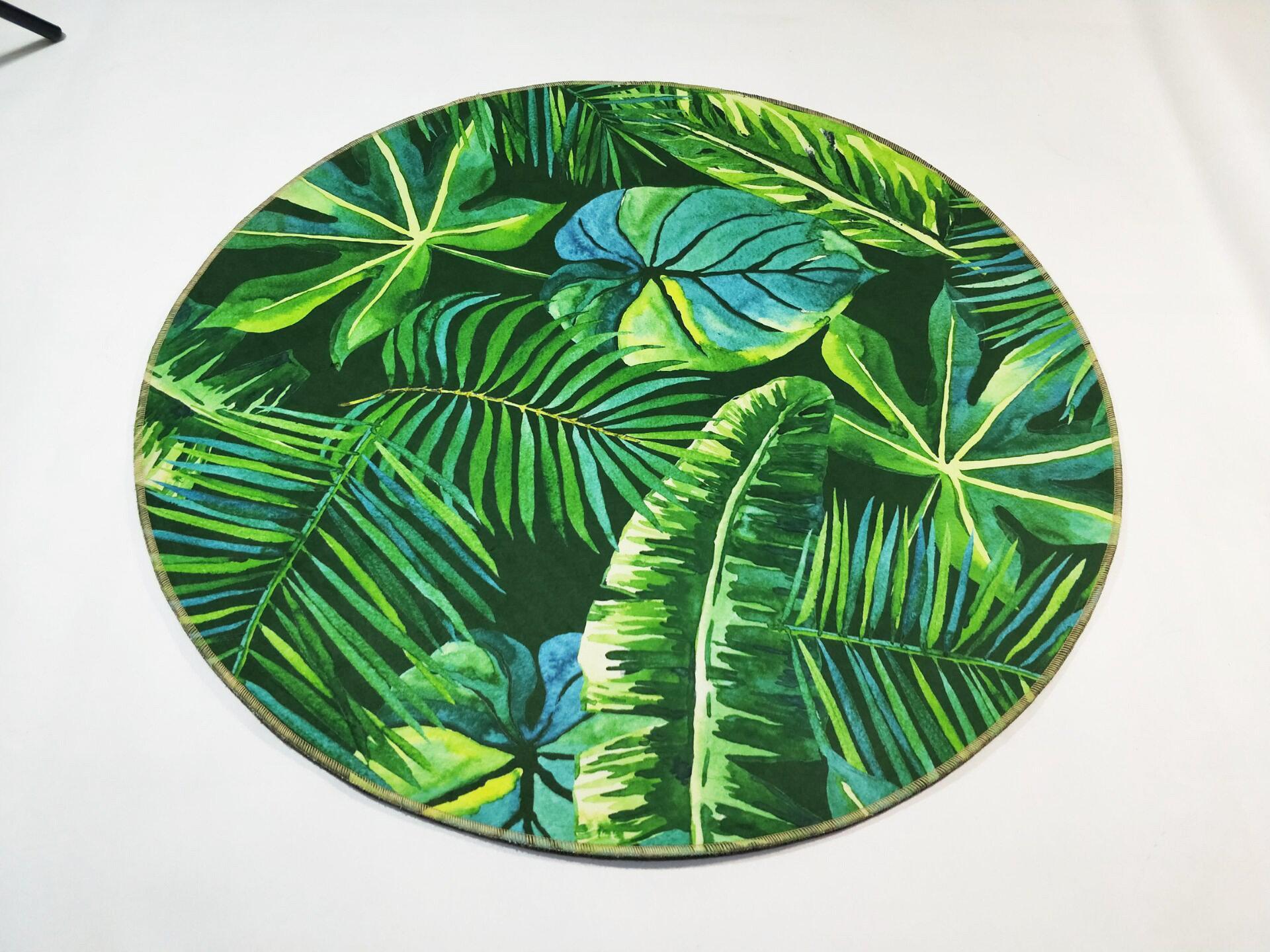 Runder Teppich <br> Exotisches Muster