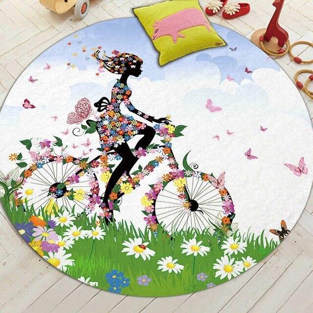 Runder Teppich <br> Fahrrad