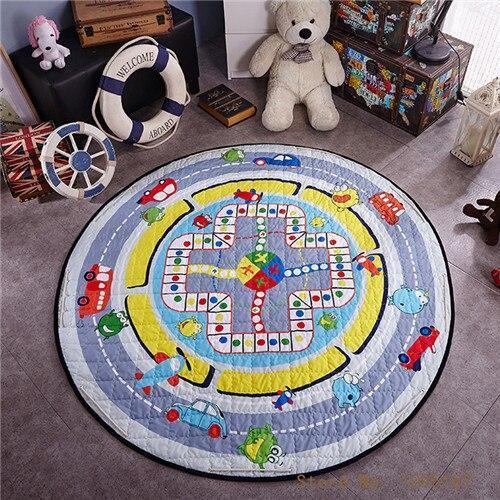 Runder Teppich <br> Farbspiel