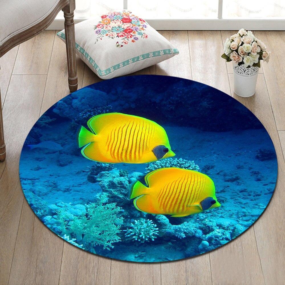 Runder Teppich <br> Fisch