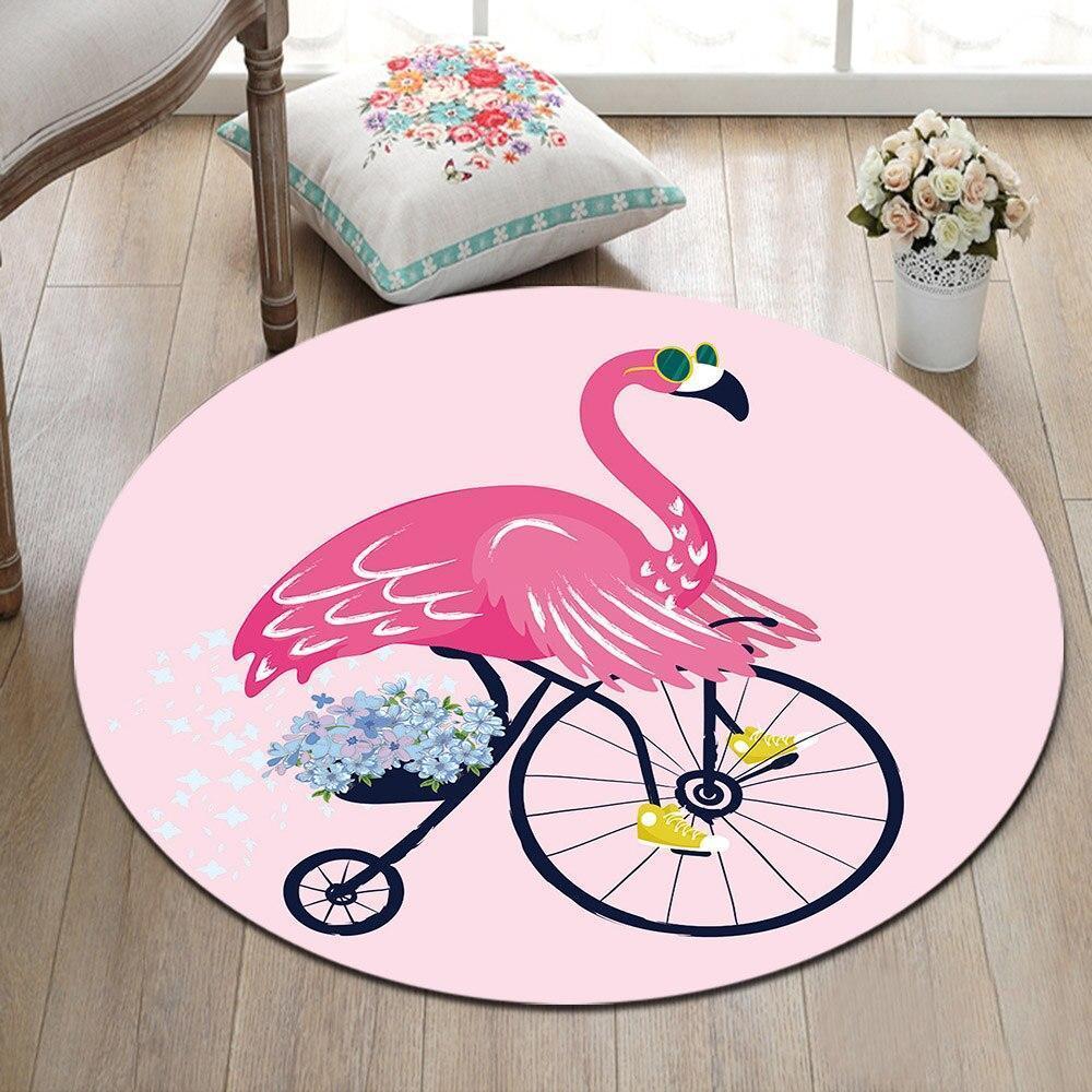 Runder Teppich <br> Flamingo