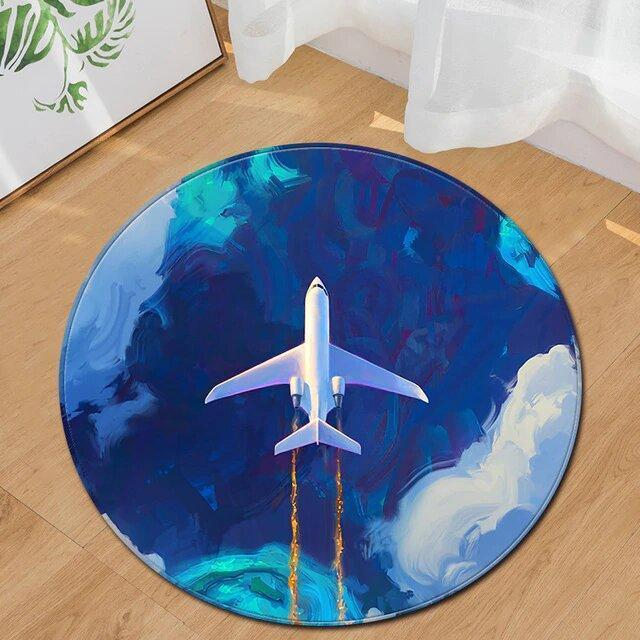 Runder Teppich <br> Flugzeug