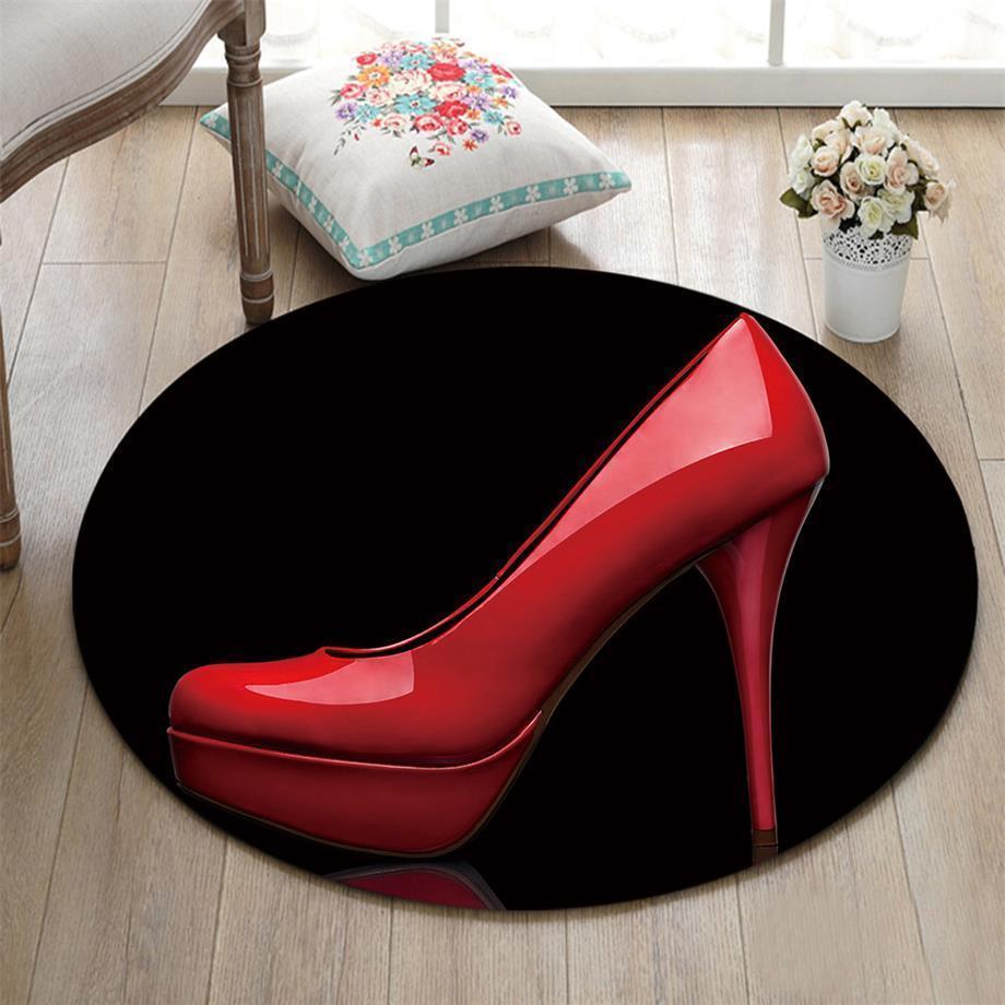 Runder Teppich <br> Frauenabsatz