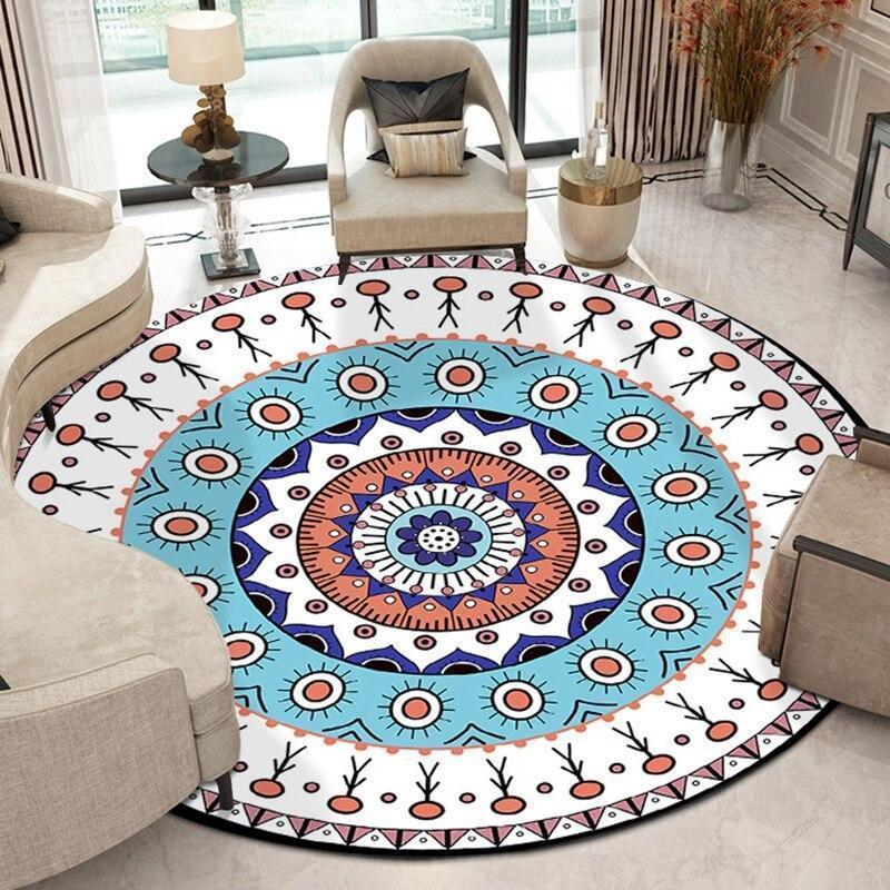 Runder Teppich <br> Freunde Mandala