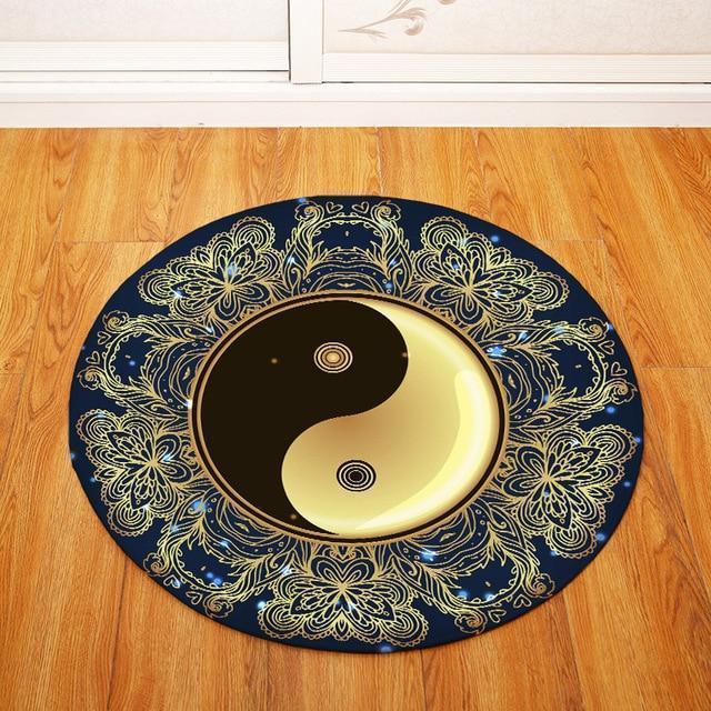 Runder Teppich <br> Frieden und Harmonie