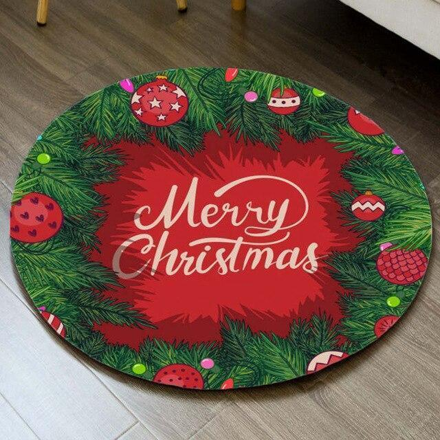 Runder Teppich <br> Fröhliche Weihnachten