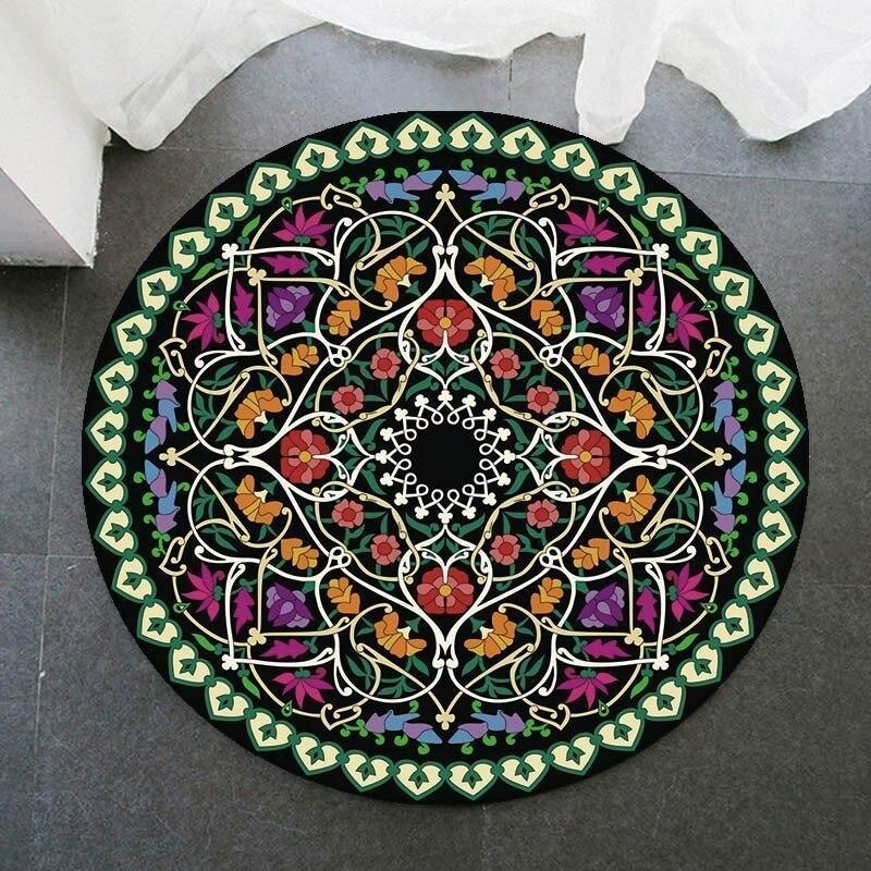 Runder Teppich <br> Frühlingsfarbe Mandala