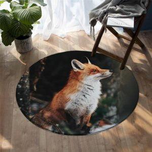 Runder Teppich <br> Furchtloser Fuchs