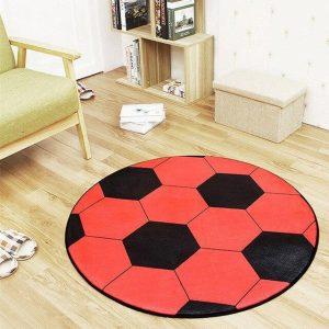 Runder Teppich <br> Fußball