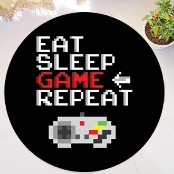 Runder Teppich <br> Gamer