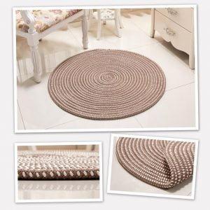 Runder Teppich <br> Geflochten