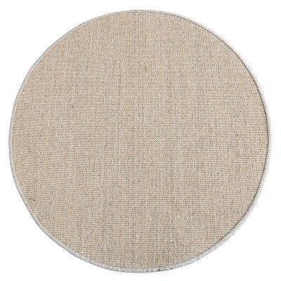 Runder Teppich <br> Geflochtene Natürliche Binse
