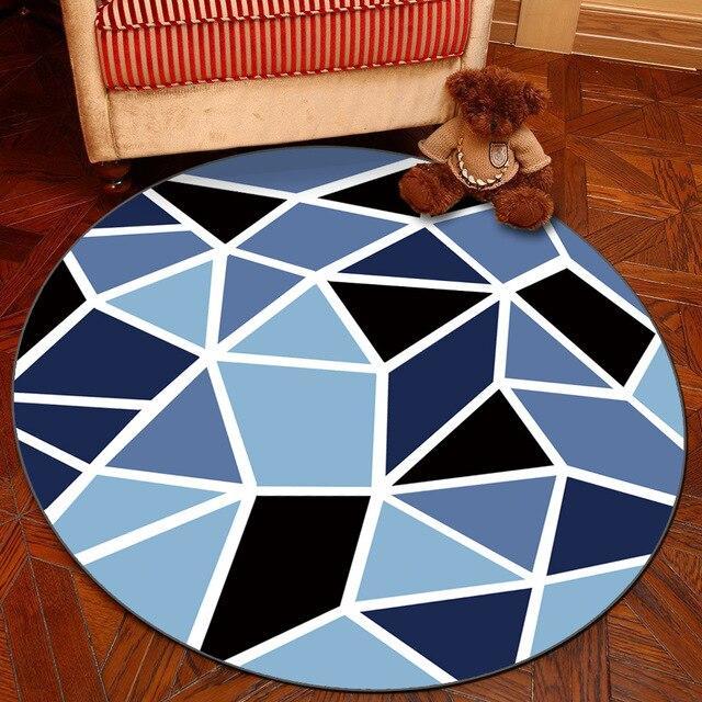 Runder Teppich <br> Geometrisch