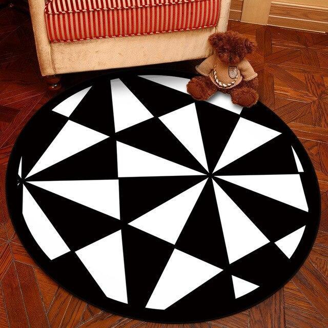 Runder Teppich <br> Geometrische Figur