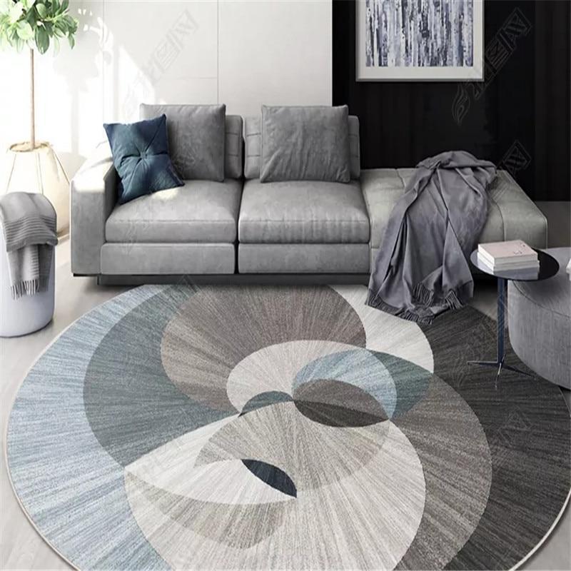 Runder Teppich <br> Geometrische Formen