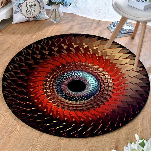 Runder Teppich <br> Geometrische Spirale