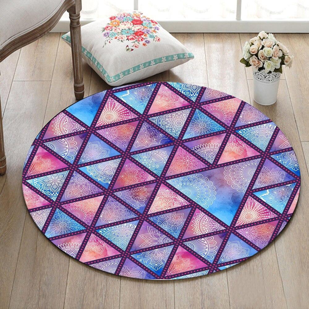 Runder Teppich <br> Geometrisches Mandala