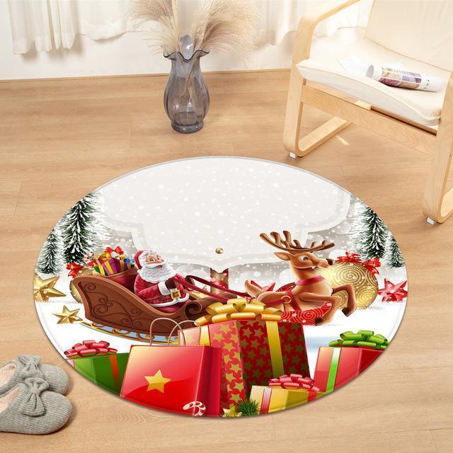 Runder Teppich <br> Geschenk