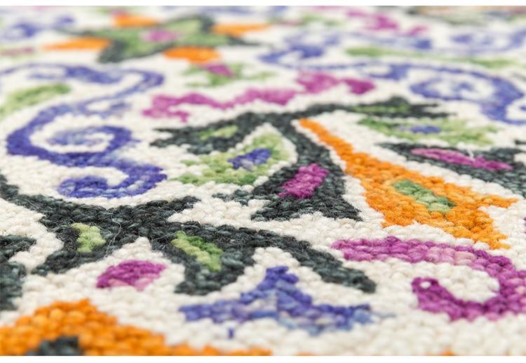 Runder Teppich <br> Gewebt