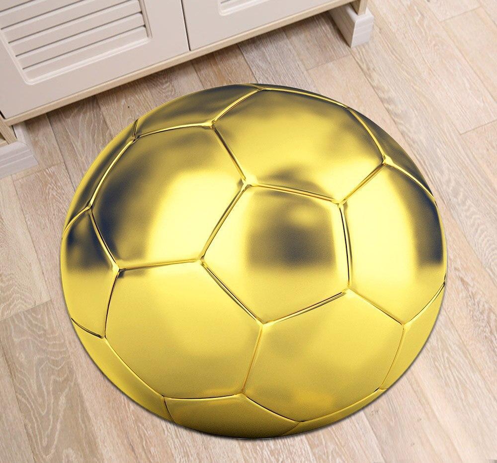 Runder Teppich <br> Goldener Ball