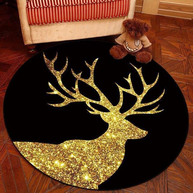 Runder Teppich <br> Goldhirsch