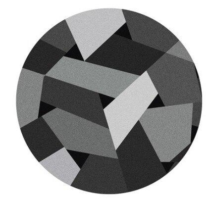 Runder Teppich <br> Graue Muster