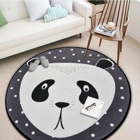 Runder Teppich <br> Grauer Panda