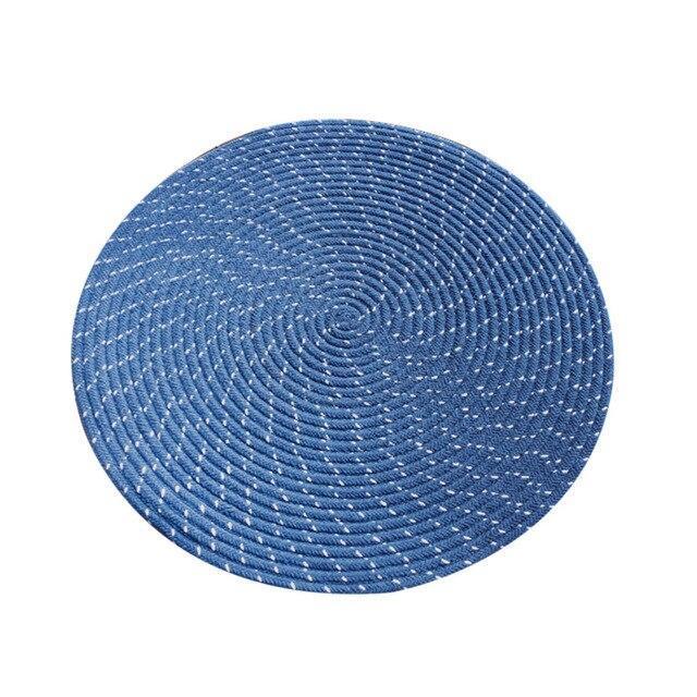 Runder Teppich <br> Grünblau