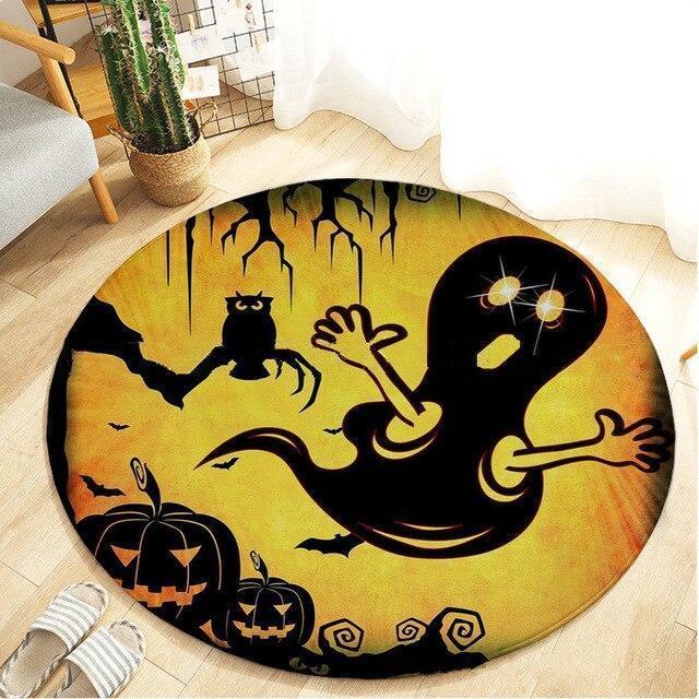 Runder Teppich <br> Halloween