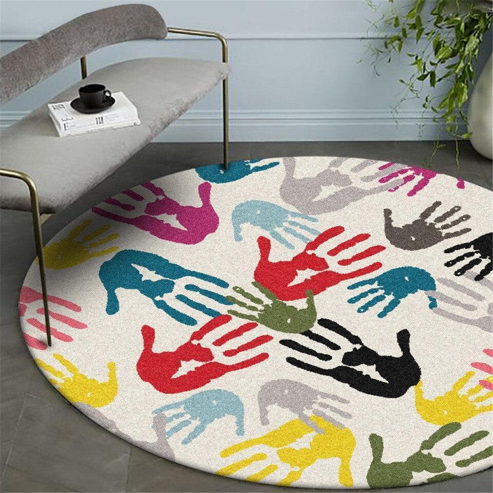Runder Teppich <br> Handabdruck