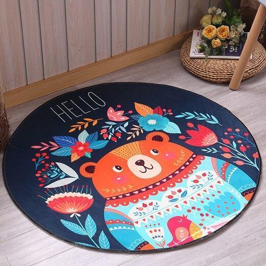 Runder Teppich <br> Haus