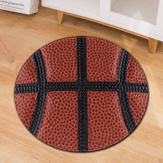 Runder Teppich <br> Hausbasketball