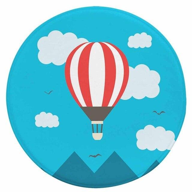 Runder Teppich <br> Heißluftballon