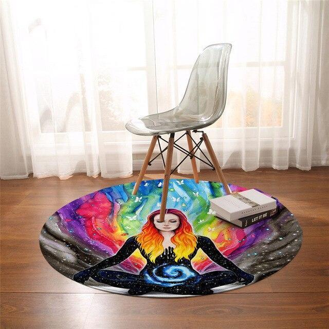 Runder Teppich <br> Hippie