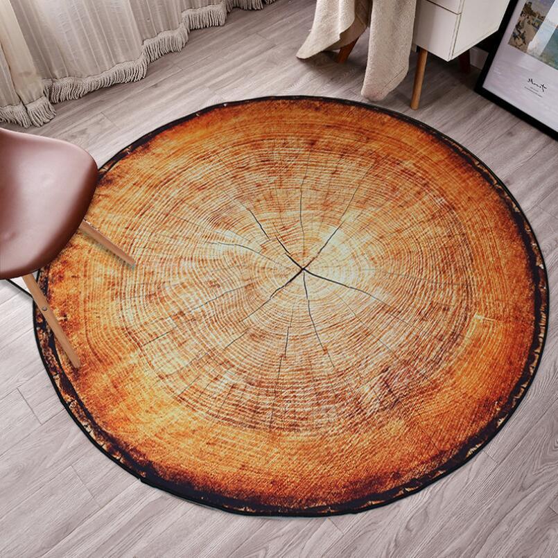 Runder Teppich <br> Holz