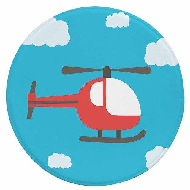 Runder Teppich <br> Hubschrauber