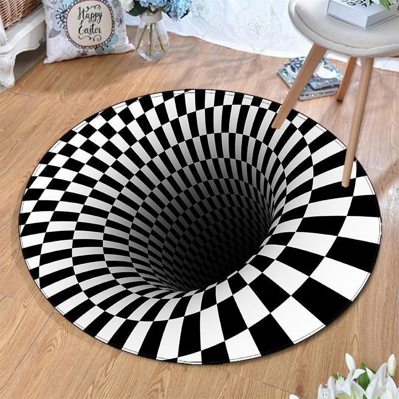 Runder Teppich <br> Illusion