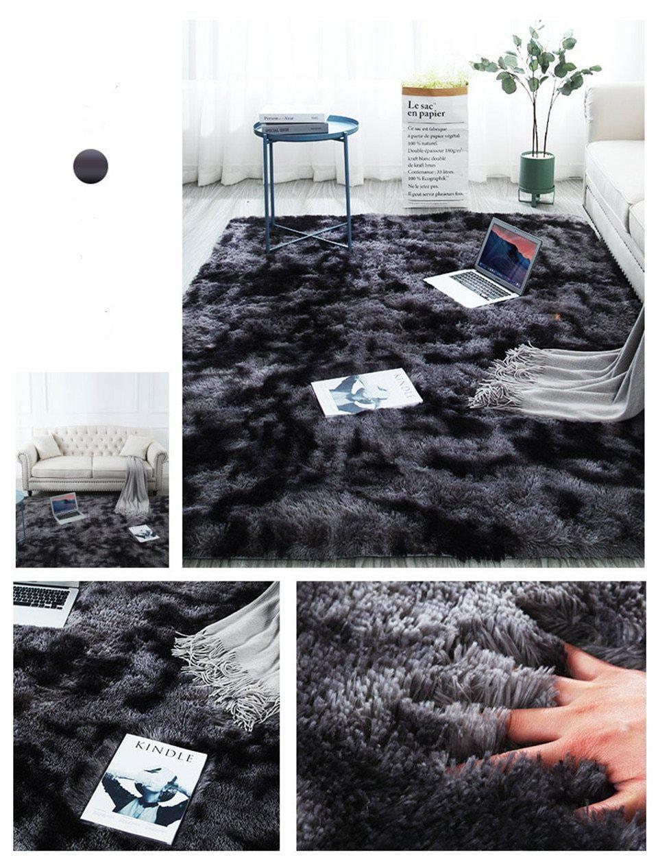 Runder Teppich <br> Imitation Pelz