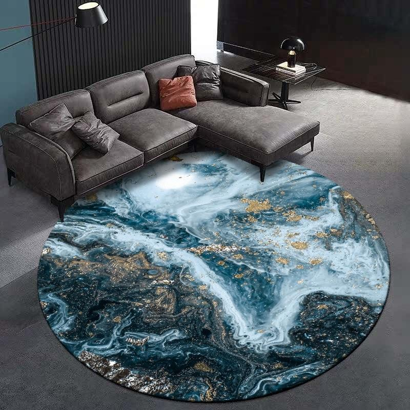 Runder Teppich <br> Industriell