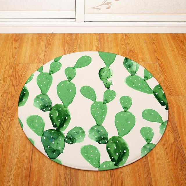 Runder Teppich <br> Kaktus