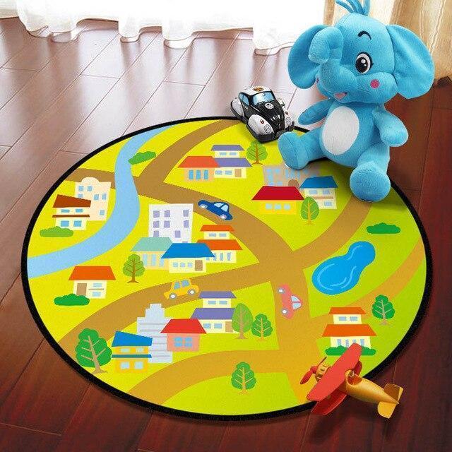 Runder Teppich <br> Kindergarten