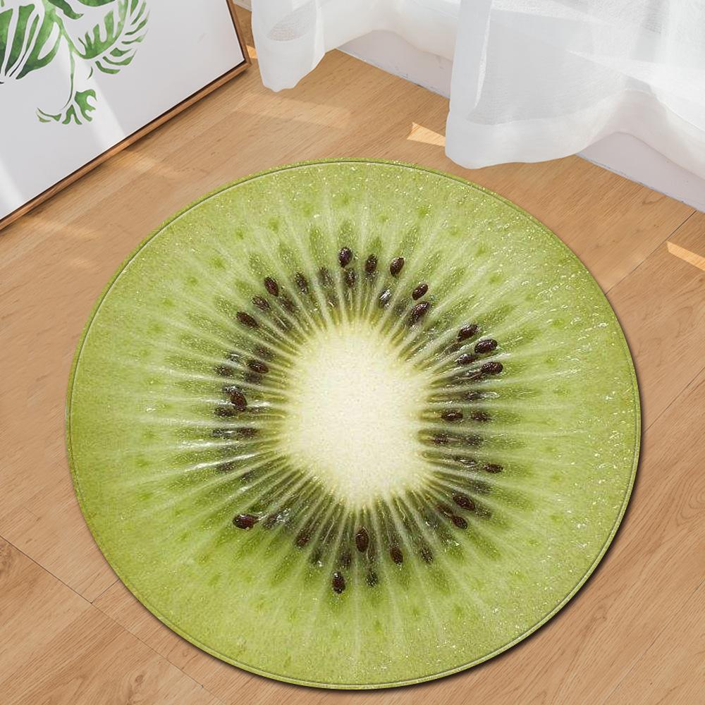 Runder Teppich <br> Kiwi