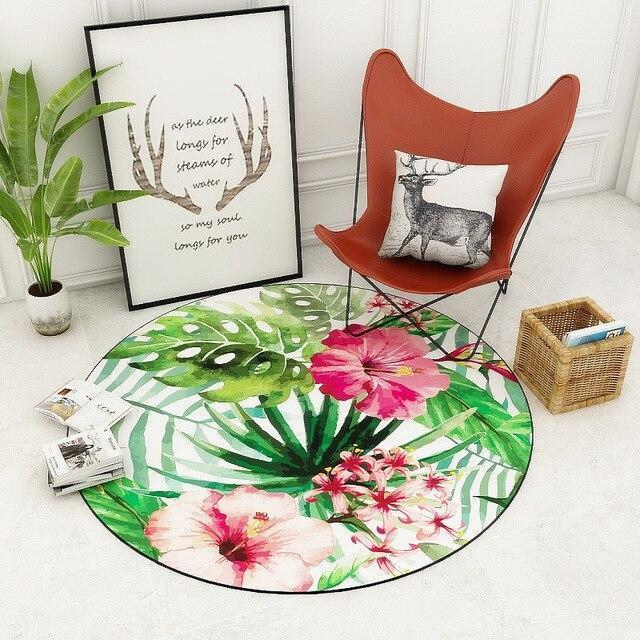 Runder Teppich <br> Klarheit Blumen